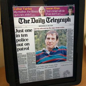 Daily Telegraph on the iPad